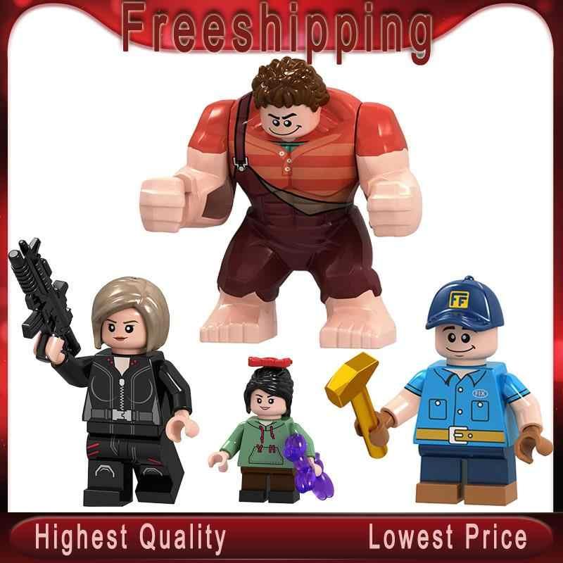 Breaks the Internet  Vanellope Von Schweetz Fix-It Felix Calhoun building Blocks action figure Toys children Gifts MG9007