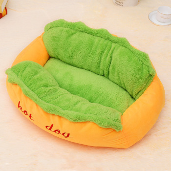 Hot Dog Bed various Size Large Dog Lounger Bed Kennel Mat Soft Fiber  2