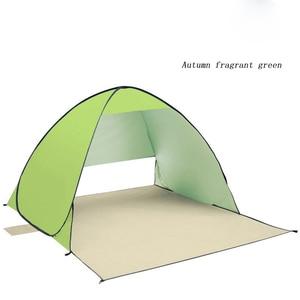 Image 4 - אוטומטי קמפינג אוהל ספינה מru חוף אוהל 2 אנשים אוהל מיידי צצים פתוח אנטי UV סוכך אוהלי חיצוני sunshelter