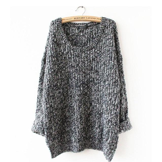 Spring and Autumn Long Section Of Large Size Loose Sweater Round Neck Hedging Thin Solid Thin Sweater Bottoming Shirt