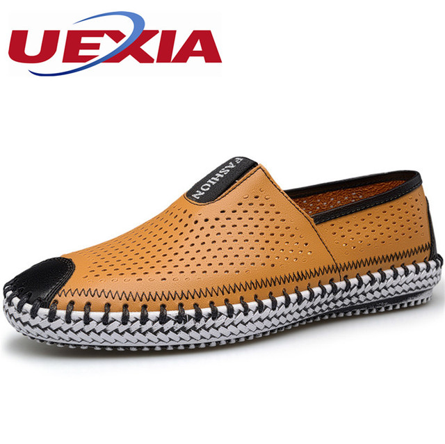 1dfede15 Calidad Superior de la marca Pisos Hombres de Cuero Zapatos de Conducción  Ocasionales Mocasines Hechos A