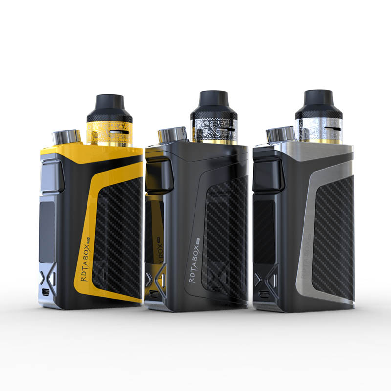 Original iJoy RDTA Box Mini 100W Kit Powered by Built-in Li-Po 2600mAh battery with 6ML tank RBM-C2 0.2ohm Coil Vape Kit authentic 225w ijoy captain pd1865 tc full kit with 2 6ml rdta 5s tank