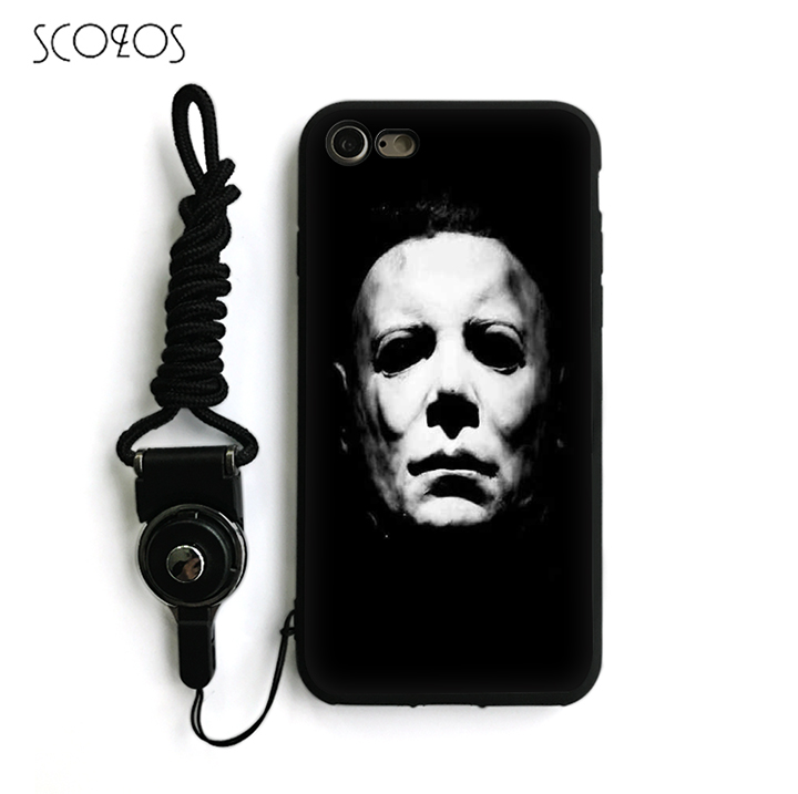 SCOZOS Halloween Michael Myers Silicone TPU Phone Soft Cover For Iphone X 5 5S Se 6 6S 7 8 6 Plus 6S Plus 7 Plus 8 Plus #ka94