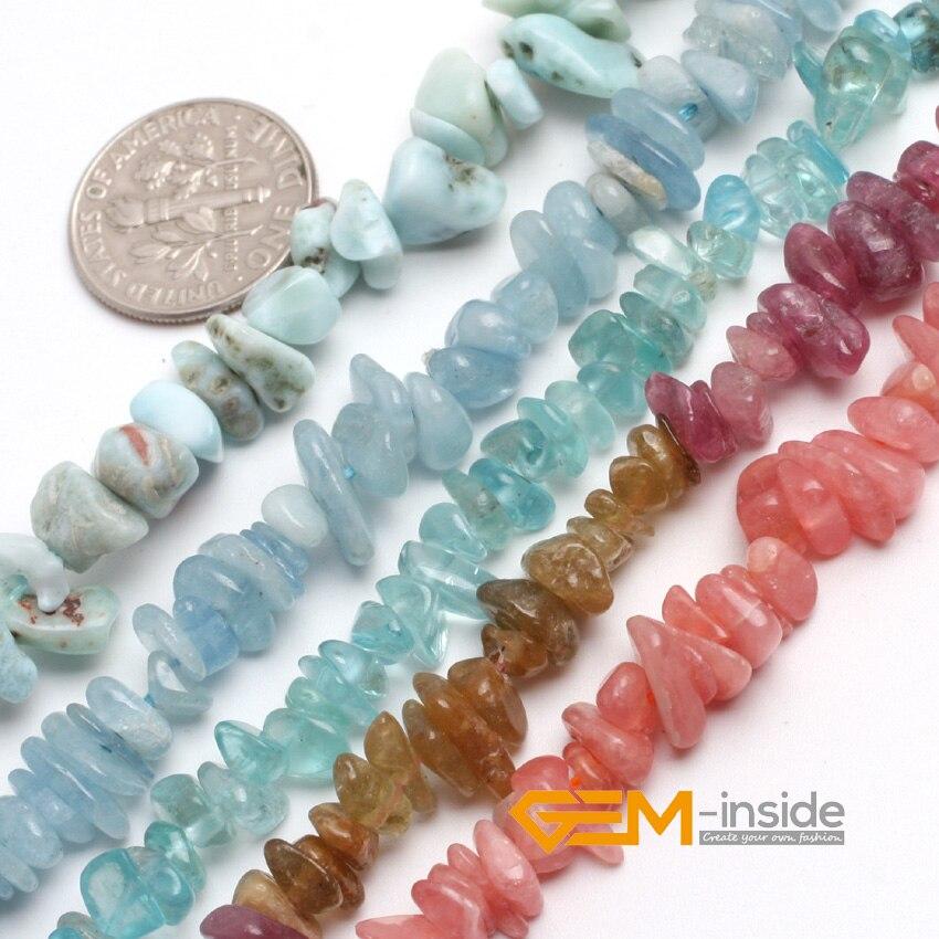 "6-7mm pedras naturais microplaquetas grânulos de cascalho para fazer jóias strand 15 ""kyanite red rhodonite multicolorido turmalina larimar pick"