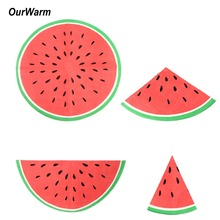 OurWarm 20Pcs Watermelon Paper Napkin Disposable Party for Wedding Hawaiian Luau Birthday Chirtsmas Decorations