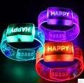 Led luz intermitente pulsera con que brilla la pulsera para la fiesta de cumpleaños decoraciones kids