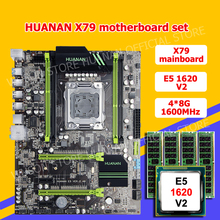 !!!HUANAN V2.49 X79 motherboard CPU RAM combos Xeon E5 1620 V2 CPU (4*8G)32G DDR3 RECC memorry all good tested 2 years warranty