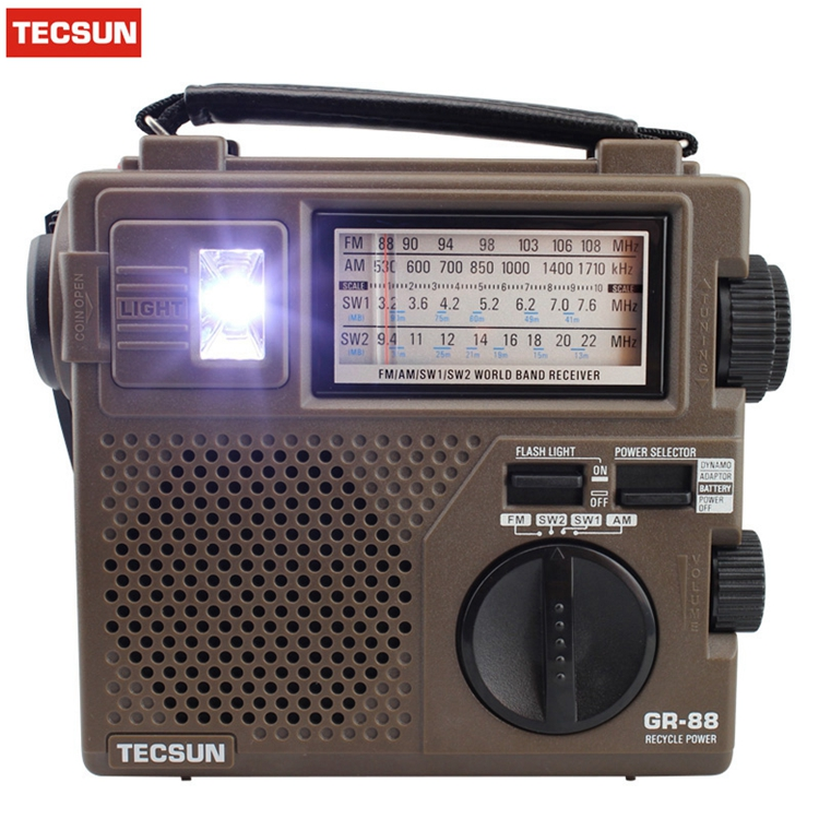 TECSUN GREEN-88 GREEN88 FM/AM/SW full-band economical/environmental/emergency radio with light Dynamo Hand Cranking Rechargeable icoco 3 in 1 emergency charger flashlight hand crank generator wind up solar dynamo powered fm am radio charger led flashlight