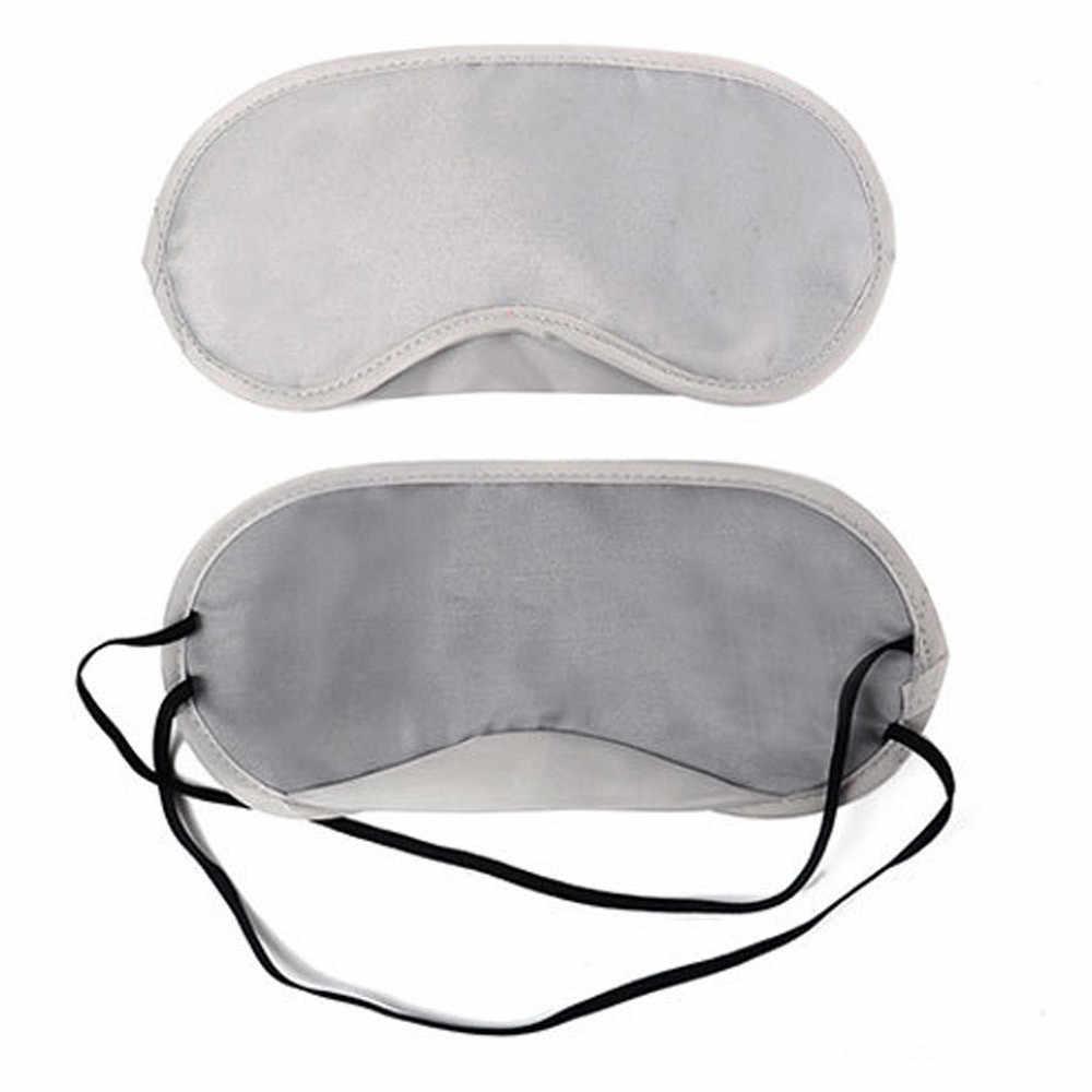 Yeni 1 PC Saf Ipek Uyku Göz Maskesi Yastıklı Gölge Kapak Seyahat Dinlenmek Yardım Profesyonel Damla Nakliye # T2