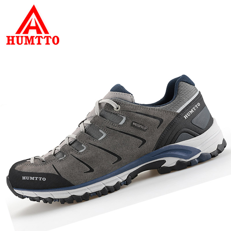 Humtto Outdoor Men and Women Hiking Shoes Leather Trekking Shoes Waterproof Sneakers Climbing Mountain Sports Shoes For Couples humtto men s summer sports outdoor trekking hiking sandals shoes for men sport climbing mountain shoes man sandals
