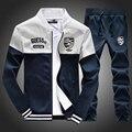 2016 Mens Tute Autunno Tute Sportive di Marca Imposta Jogger Jacket + Pants Suit Sporting Hip Hop Felpe Sudaderas Hombre vestito