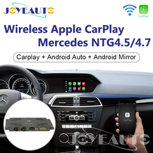 Joyeauto WIFI Wireless Apple Carplay Car Play For Mercedes A B C E G GL ML Class NTG4.5 4.7 W204 Android/iOS Mirroring/Auto unlimited use carplay apple android auto started in 10 seconds updated by m b star c4 c5 xentry ntg5 s1 apple car play