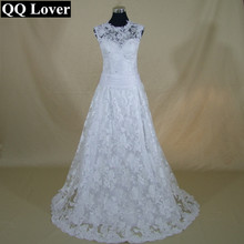 QQ Lover Vintage Wedding Dresses High Neck Sleeveless Bridal Gowns Removable Skirt 2 in 1 Style Vestido De Noiva Renda