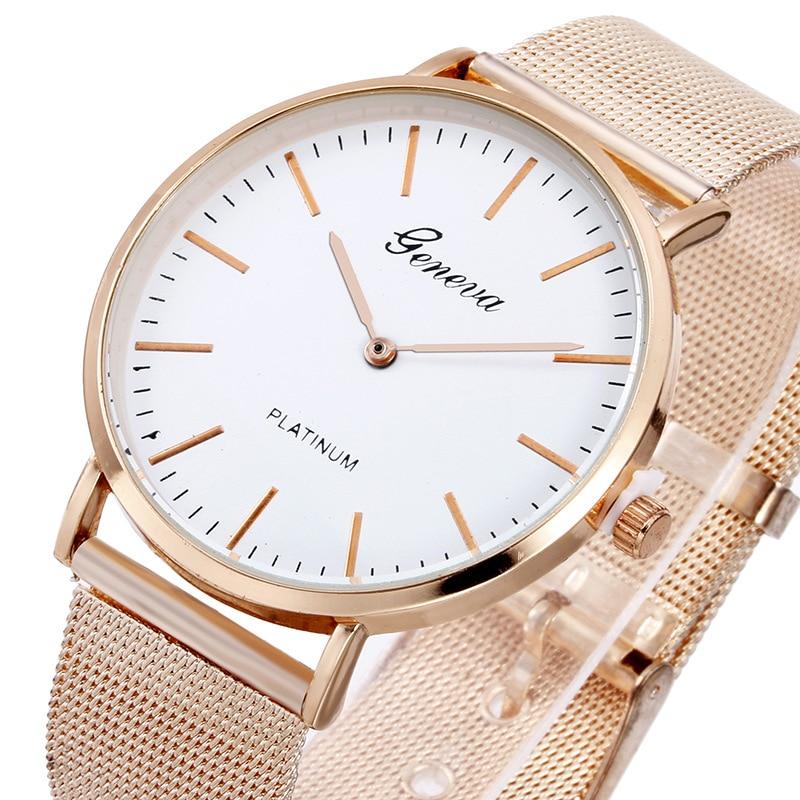 Women Watches 2020 Rosy Gold Casual Quartz Watch Women Metal Mesh Stainless Steel Dress Watches Relogio Feminino Wrist Watch Hot