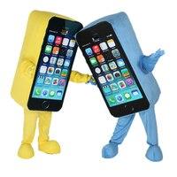 Прямая продажа с фабрики, костюм талисмана для мобильного телефона Apple iPhone, размер для взрослых