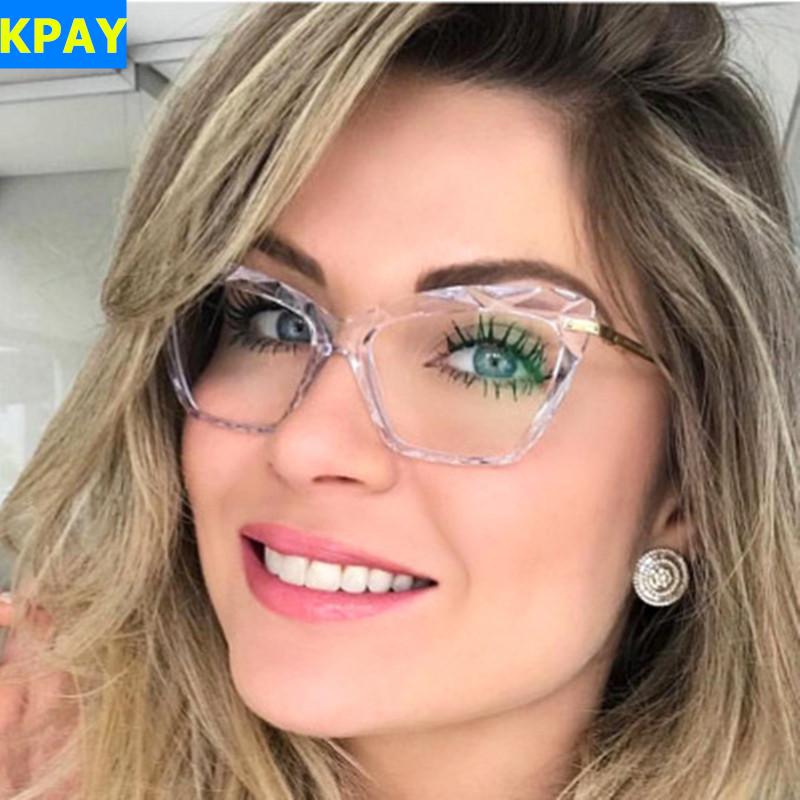 2019 Fashion Trending Styles Brand Square Glasses Frames Women Optical Computer Glasses Oculos De Grau Feminino Armacao Frame in Women 39 s Eyewear Frames from Apparel Accessories