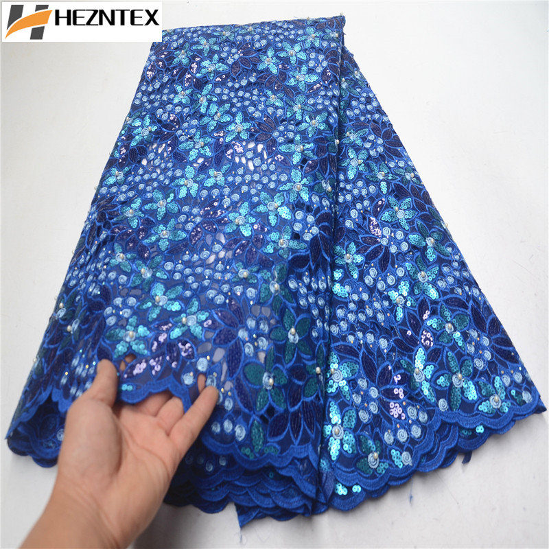Latest African Organza Lace Fabric High Quality African Sequins Lace Fabric Organza Lace Fabrics With Stones