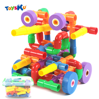 Multicolor Kids Plastic Tunnel Water Pipe Building Blocks Sets Assembly Educational Toys For Children S Creativity