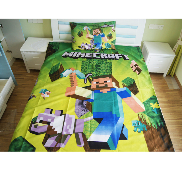 Heimtextilien Minecraft Bettwäsche Set Cartoon Polyester Bettwäsche
