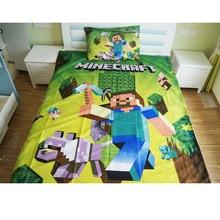 Домашний текстиль Minecraft постельное белье мультфильм полиэстер постельное для детей обувь мальчиков подарок набор пододеяльников