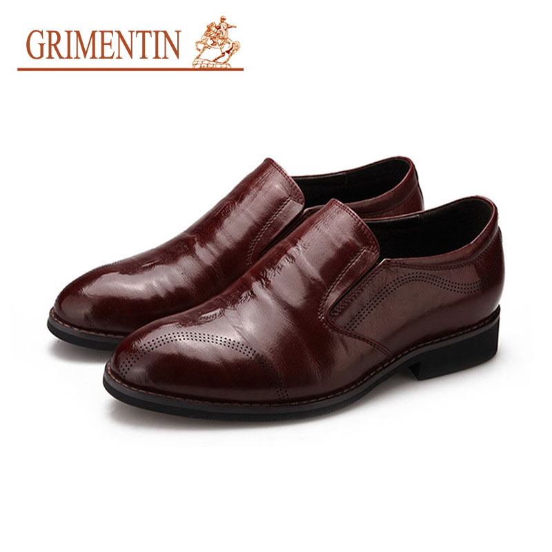 GRIMENTIN Summer Genuine Leather Mens Moccasins Shoes Luxury Italian Designer Formal Shoes Slip On Brown Business Casual ShoesGRIMENTIN Summer Genuine Leather Mens Moccasins Shoes Luxury Italian Designer Formal Shoes Slip On Brown Business Casual Shoes