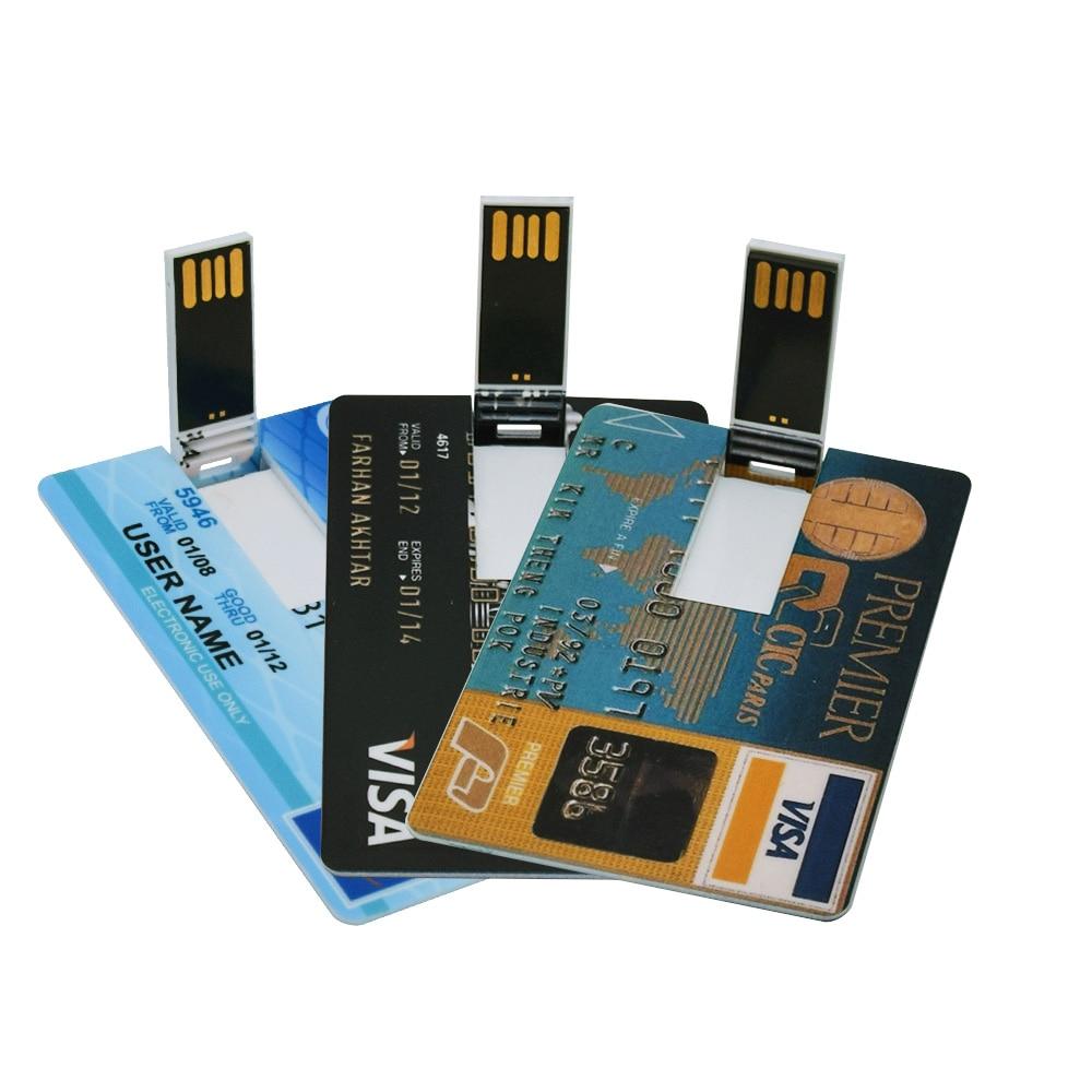 Image 2 - NEW bank Card USB Flash Drive visa cards pen drive 2.0 4GB 8GB 16GB 32GB 64GB USB Credit card Memoria Stick pendrive custom logo-in USB Flash Drives from Computer & Office