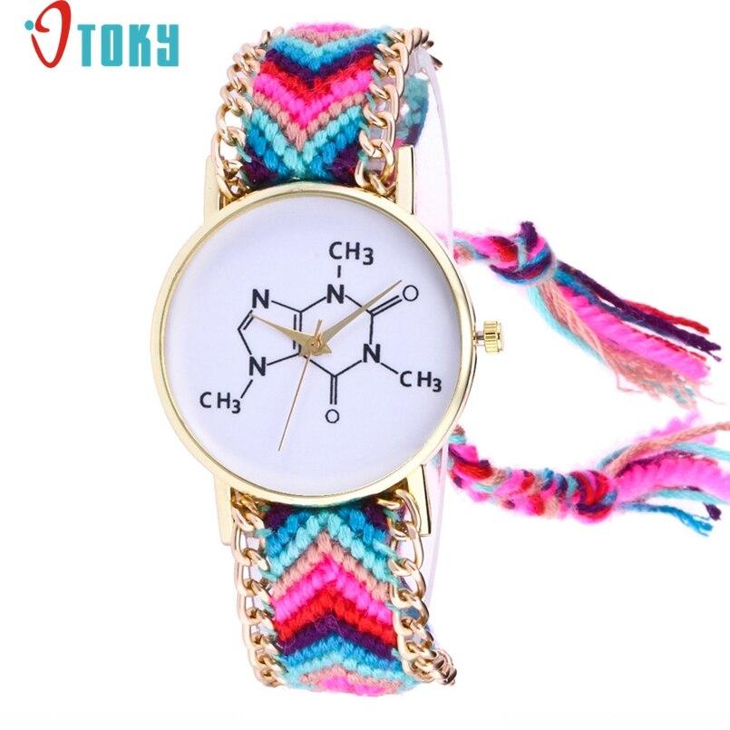 OTOKY Handmade Braided Chemical Element Bracelet Watch Ladies Rope Watch Quarzt Watches Relogio Feminino 1Pc Dropship