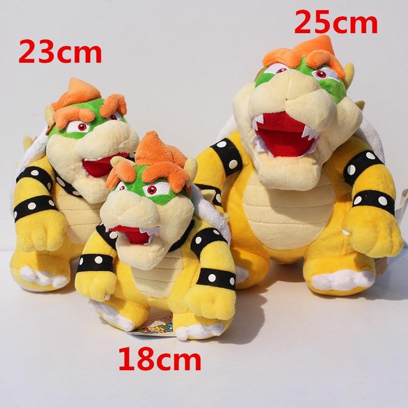 18-25cm Koopa Bowser Plush Cartoon Doll Toys Hot Game Super Mario Bros Luigi Figure Plush Doll Toy Cute Cotton Soft Stuffed Gift