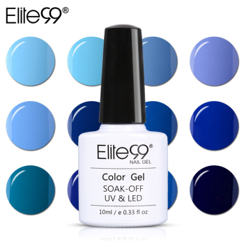 Elite99 Blau Serie Nagel Kunst Dekorationen Nagel Gel Polnisch LED UV Lampe Gel Lack 10 ml Gel Lack Long Lasting pick 1 stück