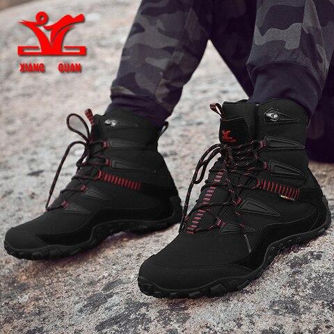 2018 new winter men outdoor sport shoes anti slip sport shoes men cotton lining hiking shoes for men warm trekking shoes women Multan
