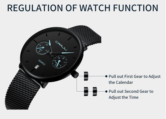 Mens Watches CRRJU Full Steel Casual Waterproof Watch 3