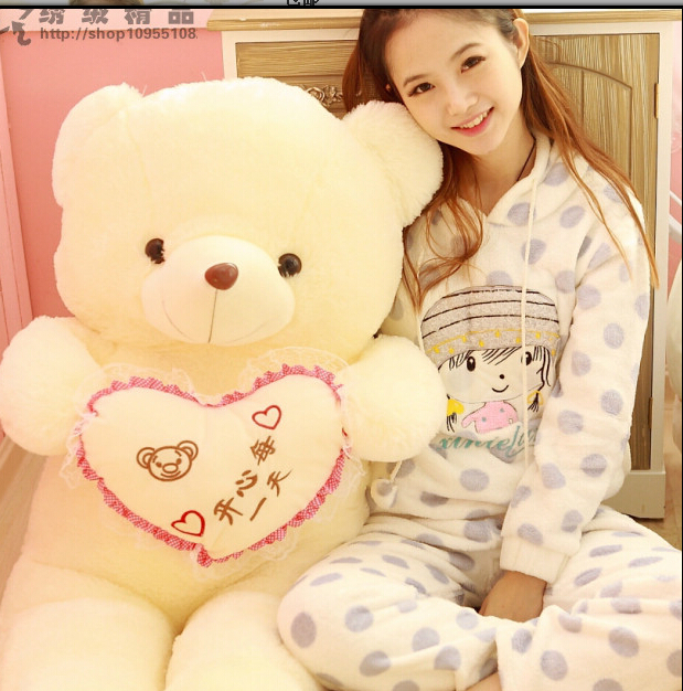80cm <font><b>Love</b></font> <font><b>Bear</b></font> <font><b>Hug</b></font> <font><b>Heart</b></font> Korean <font><b>Teddy</b></font> <font><b>Bear</b></font> Plush Toy Brinquedos Kawaii Toys For Girl's Birthdays Gift Free Shipping