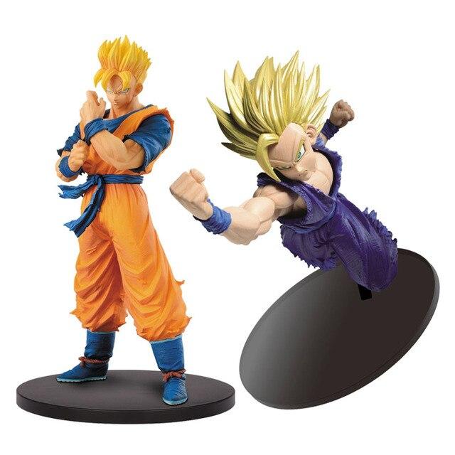 2 pçs/lote Resolução de Soldados De Dragon Ball Z Figura SCultures Big Budoukai 7 2 Son Gohan Super Saiyan Figura de Ação brinquedos modelo