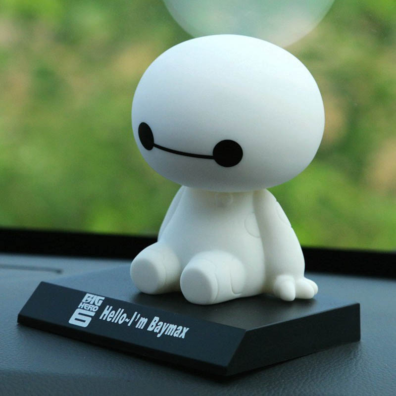 High-end car doll ornaments dashboard shaking head toy cute Super Marines exquisite Baymax car decoration accessories