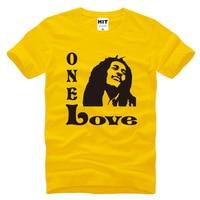 Bob Marley One Love Music T-Shirt dos homens Camisa de T Para Homens 2016 Novidade O Pescoço de Algodão de Manga Curta Casuais Top Tee Camisetas Hombre