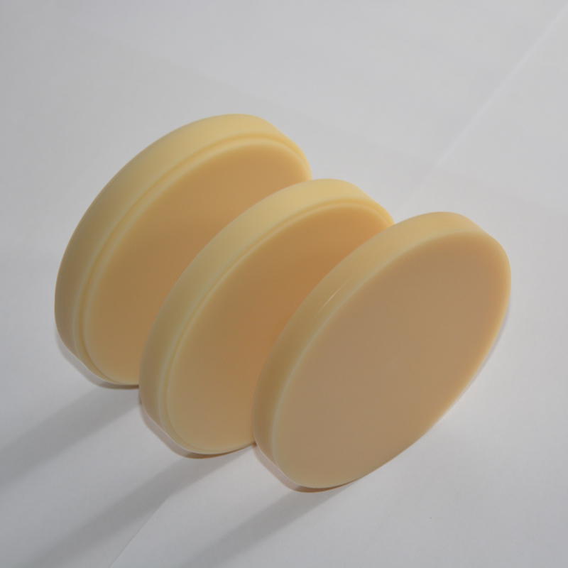 4pcs/lot (1pc of A1 A2 A3 and clear) dental PMMA resin disc OD98 for CAD/CAM dental lab materials