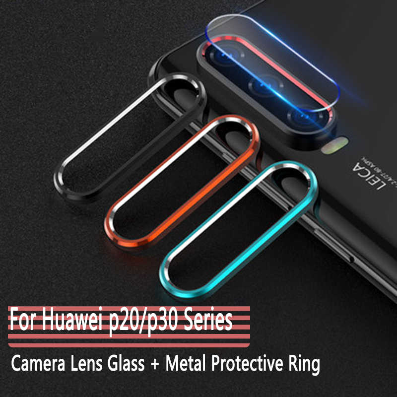 Camera Protector Glass For Huawei P20 P30 Pro Tempered Glass+Metal Rear Camera Lens Protective Ring Full Cover For Huawei P20