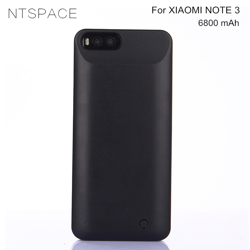 NTSPACE 6800mAh Portable Powerbank Cover <font><b>Battery</b></font> Charger <font><b>Cases</b></font> For <font><b>Xiaomi</b></font> <font><b>Mi</b></font> <font><b>Note</b></font> <font><b>3</b></font> Power Pack External Backup Power Bank <font><b>Case</b></font> image