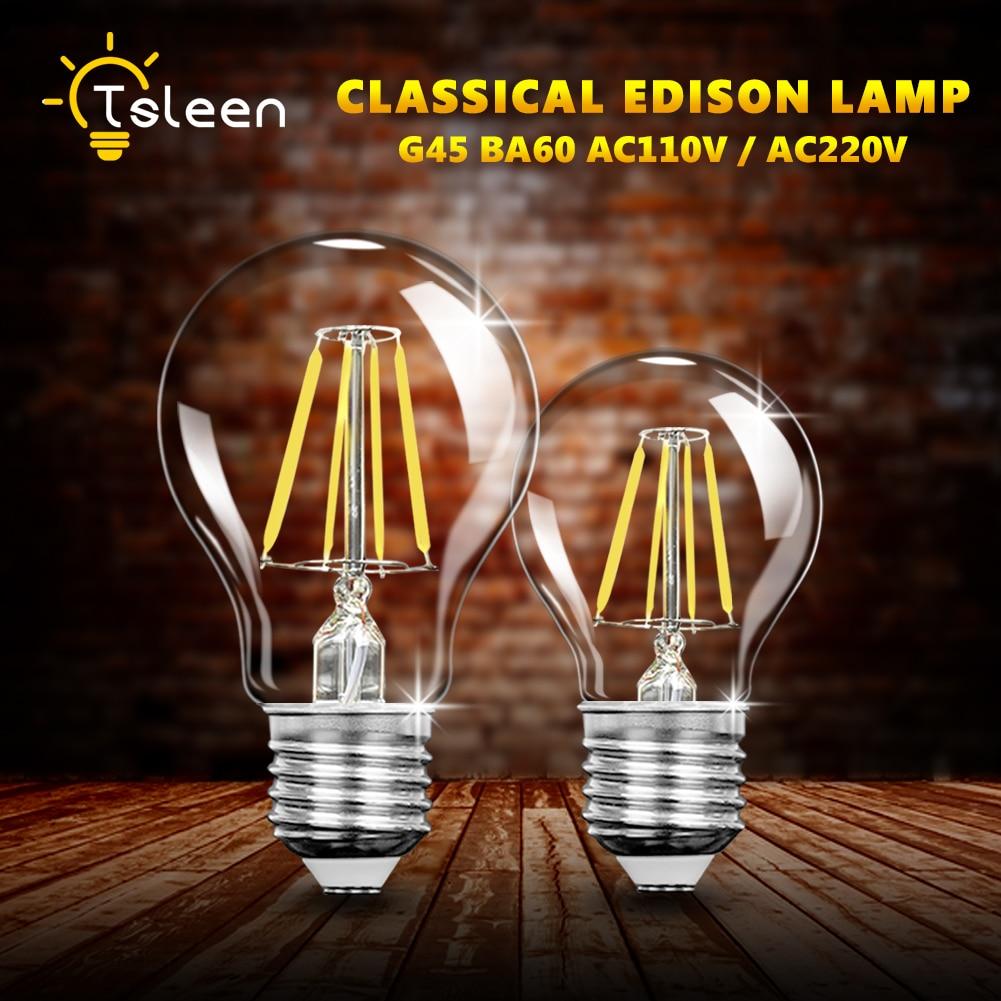 A60 Dimmer Retro E27 LED Filament Bulb Light Bombilla LED E27 220V 230V 240V 16W E27 Edison LED Lampen Energy Saving 5pcs e27 led bulb 2w 4w 6w vintage cold white warm white edison lamp g45 led filament decorative bulb ac 220v 240v