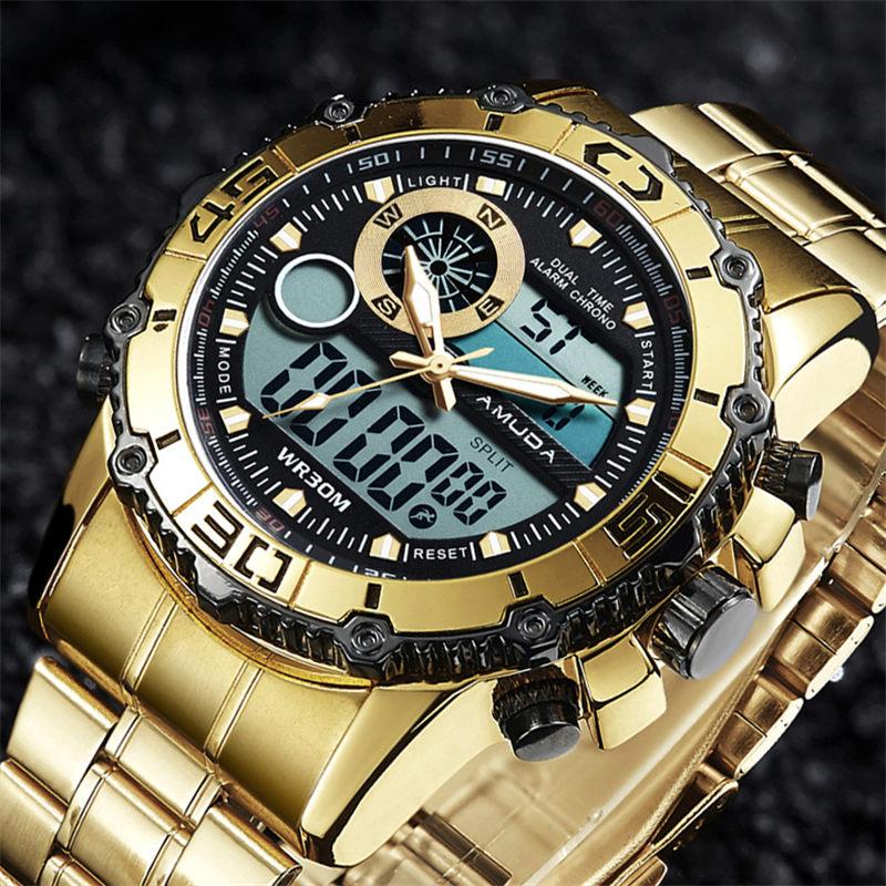New Amuda Watches Men Luxury Brand Electronic Wrist Watches Analog Digital Male Sport Watch Relogio Masculino 2017 analog watch