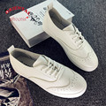 Случайные Плоские Ботинки Женщин 2016 pu кожа белый черный Эспадрильи Мокасины Криперс Sapatos Femininos Zapatos Mujer холст