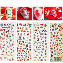 Newest MGM-107 3d Chrismas design nail sticker decal Japan style rhinestones DIY decoration tools for wraps