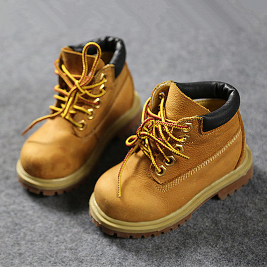 0297c2f07c6 Full Real Leather Kids Hiking Boots TOP Quality Cowhide Children ...