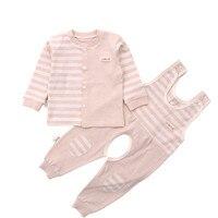 2 Pcs Baby Clothing Set Spring Autumn Newborn Boys Girls Long Sleeve T Shirt Overalls Colored