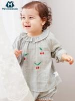 Mini balabalaChildren ropa 2019 primavera nuevo bebé dos piezas traje coreano bebé niñas niños ropa conjunto