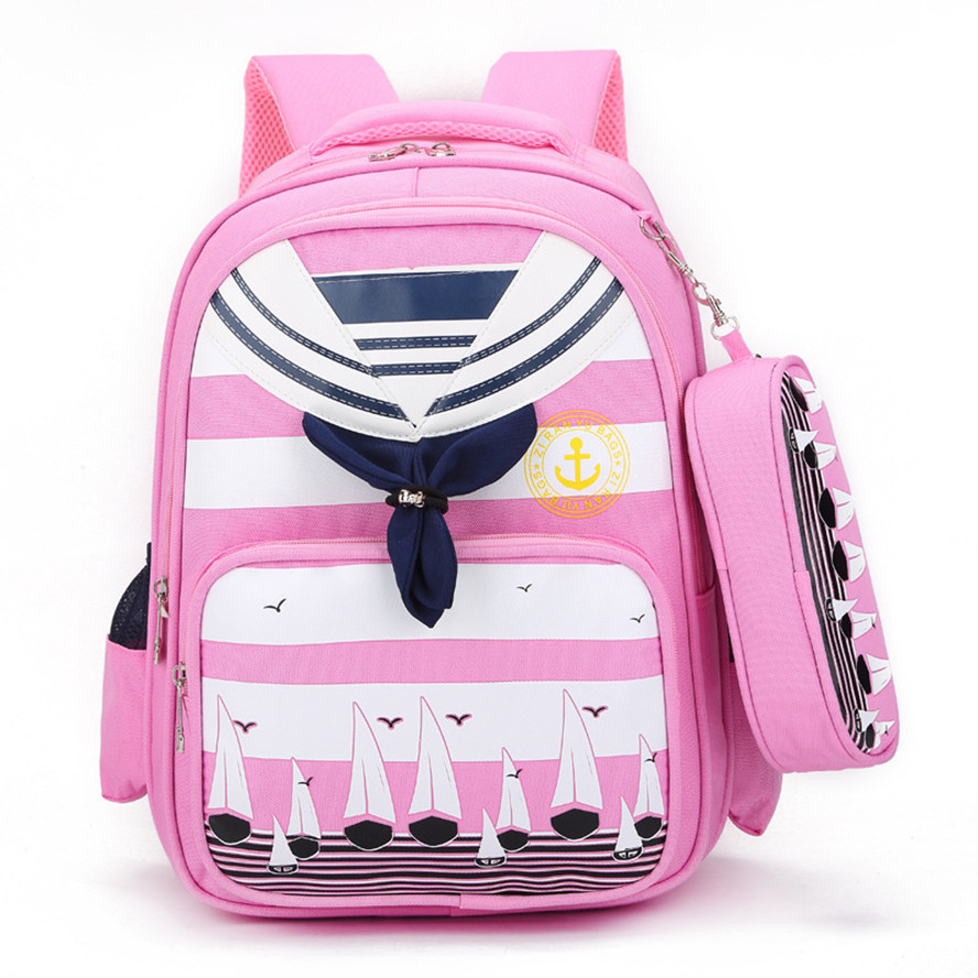 ФОТО Sailor suit schoolbags High quality students of school bags lightweight and durable Large capacity backpack for boys and girls