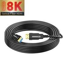 光ファイバhdmi 2.1ケーブル超hd (uhd) 8 18kケーブル120 60hzと48Gbsオーディオビデオhdmiコードhdr 4:4:4ロスレスアンプ