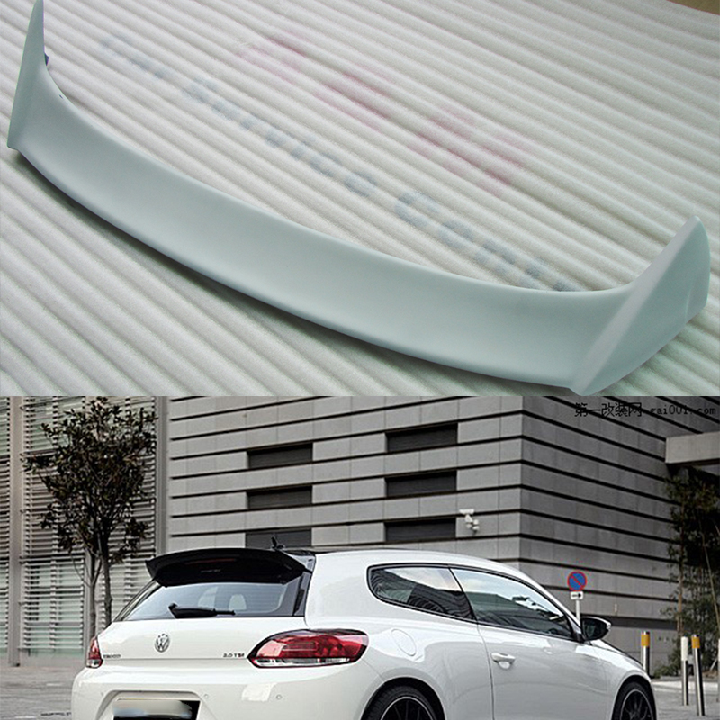 Unpainted Fiberglass Scirocco Roof Spoiler Wing For Volkswagen VW Scirocco 2010~2014 partol black car roof rack cross bars roof luggage carrier cargo boxes bike rack 45kg 100lbs for honda pilot 2013 2014 2015