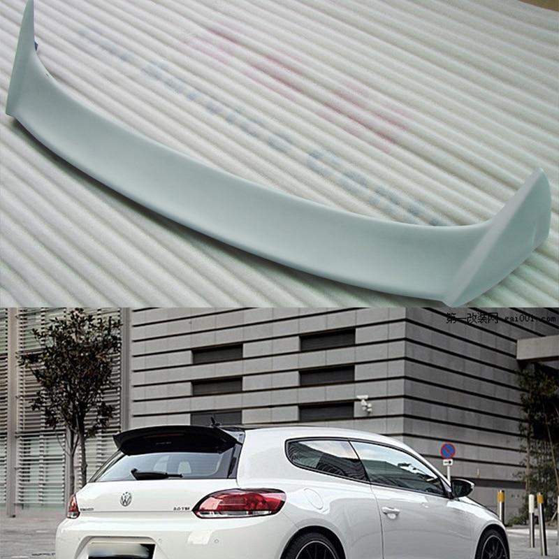 Unpainted Fiberglass Scirocco Roof Spoiler Wing For Volkswagen VW Scirocco  2010~2014(China (