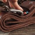Linha da cor do vintage dos homens da correia de couro Cabeça camada de couro cinto de fivela agulha fazer velho personagem esculpido belt jeans belt